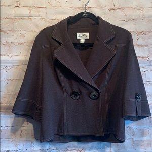 Joseph Ribkoff blazer jacket brown sz 6 big sleeve